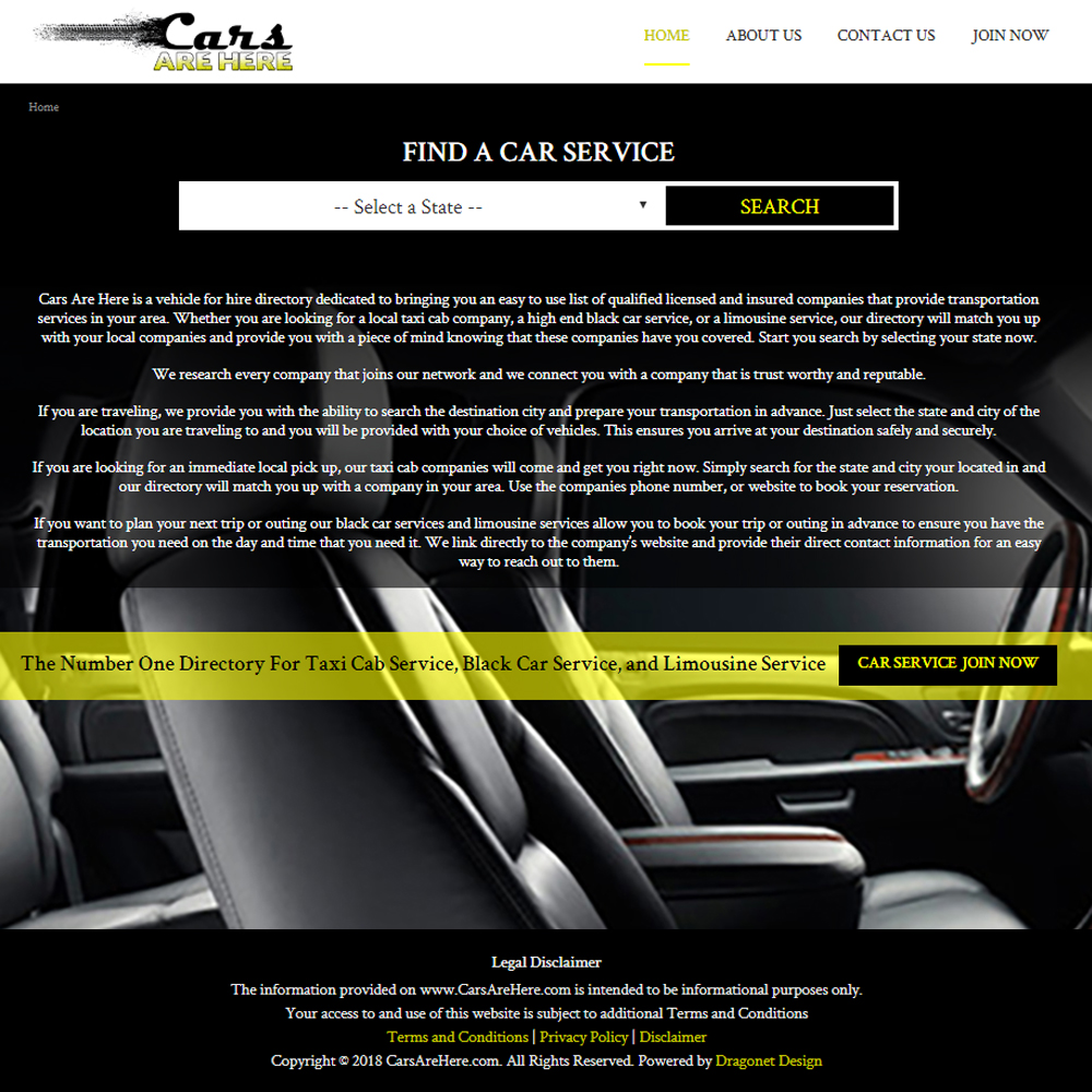 Dragonet Design Cars Are Here Website