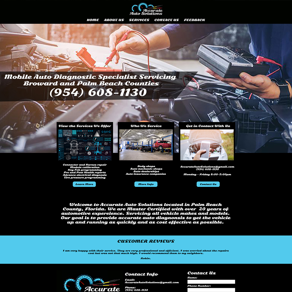 Accurate Auto Solutions Website