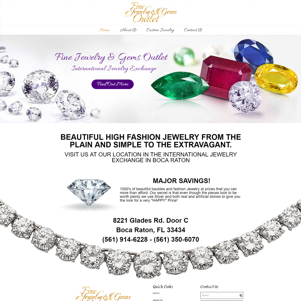 Fine Jewelry and Gems Outlet Website